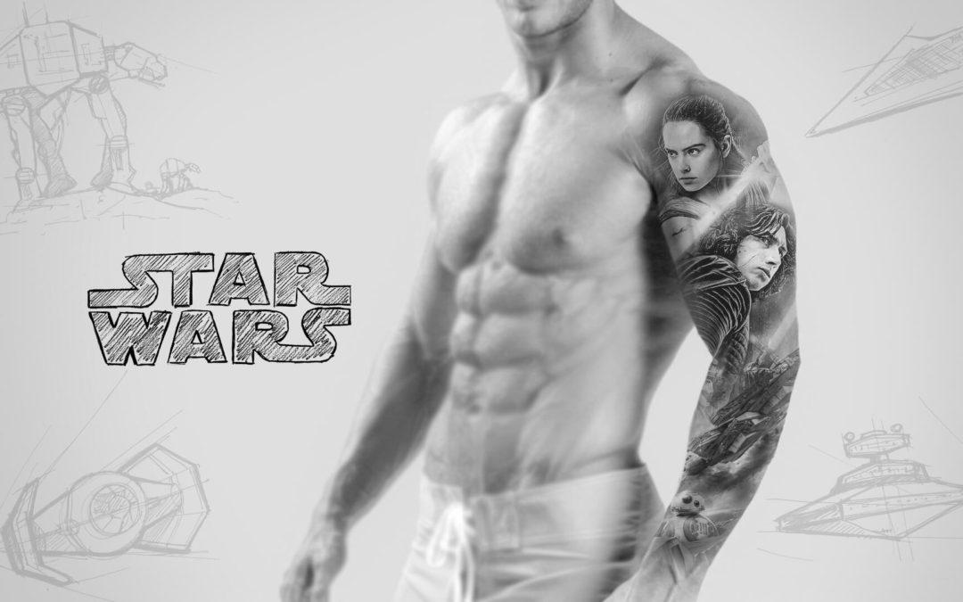 Star Wars teli kar tetoválás vázlat